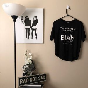 Bershka The meaning of the word blah graphic tee